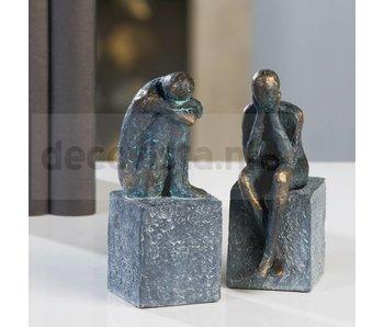 Skulptur Traurig (Set)