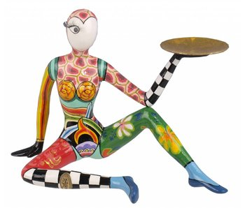 Toms Drag Sitting Acrobat sculpture