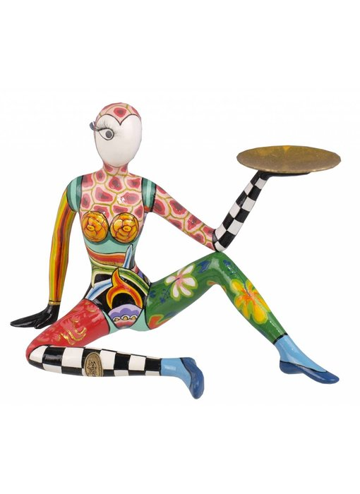 Toms Drag Acrobat sitting sculpture