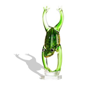 Vetro Gallery Glas sculpture Jumping frog