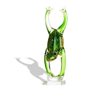 Vetro Gallery Glassculptuur springende kikker