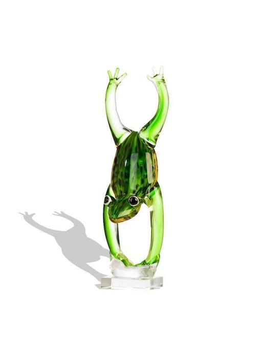 Vetro Gallery Glasskulptur Springender Frosch