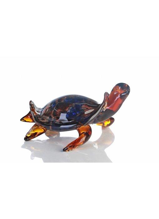 Vetro Gallery Gouden schildpad, glas