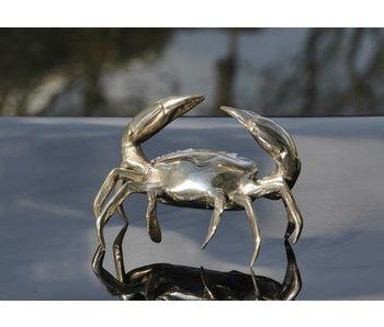 SEA LIFE - MGM Krab sculptuur - M, verzilverd messing schaaldier