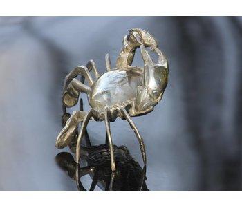 SEA LIFE - MGM Krab sculptuur verzilverd messing schaaldier
