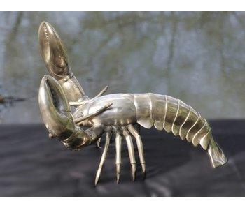 SEA LIFE - MGM kreeft sculptuur in verzilverd messing - XL