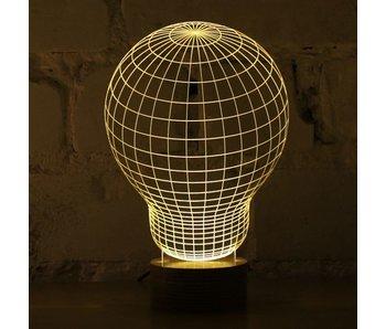 Bulbing Light Gloeilamp illusie in 2D, tafellamp
