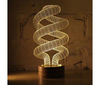 Bulbing Light Spiraallamp in 2D, tafellamp