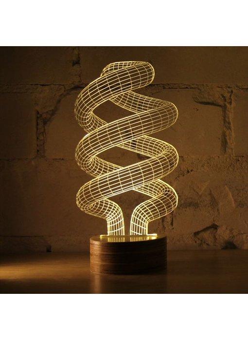 Bulbing Light Spiral illusion light in 2D