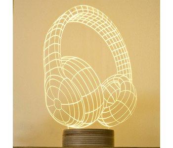 Bulbing Light Tafellamp hoofdelefoon gadget in 2D LED