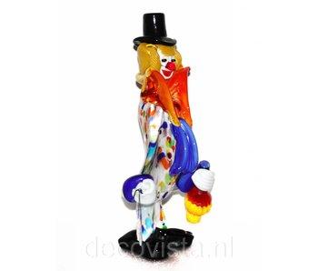 Vetri di Murano Clown mit Fiasco, Murano-Glas
