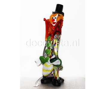 Vetri di Murano Clown met paraplu, Murano glas