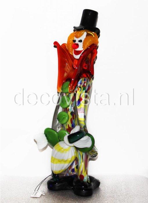 Vetri di Murano Clown with umbrella, Murano glass