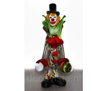 Vetri di Murano Clown mit Kugel von Murano-Glas