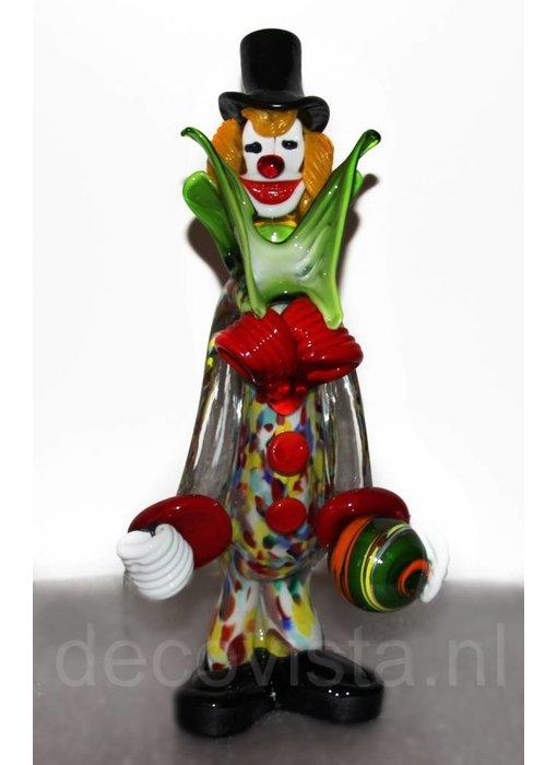 Vetri di Murano Clown met bal van Murano glas