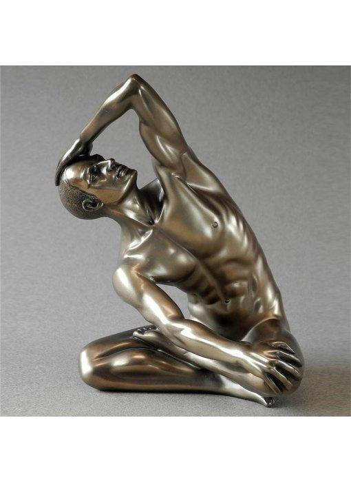 BodyTalk Mannelijk naakt, exercising, naaktsculptuur- L