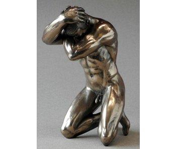 BodyTalk Bodybuilder männlicher Akt in kniender Pose