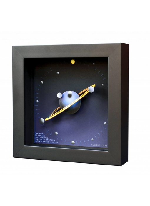 CC Kunst Wanduhr  oder Tischuhr Saturn