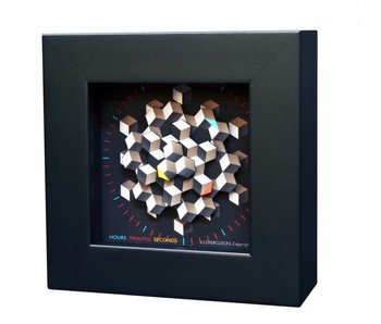 CC Kunst Wanduhr  oder Tischuhr Hexagon