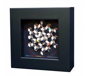 CleverClocks Kunst Wanduhr  oder Tischuhr Hexagon