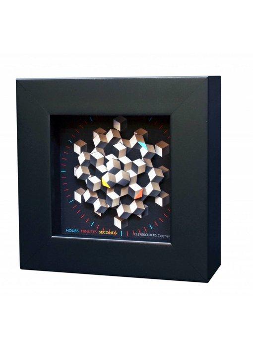 CC Kunst wandklok of tafelklok Hexagon