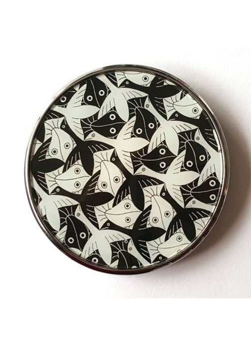 Mouseion Tasche-Spiegel MC Escher - Birds and Fisch