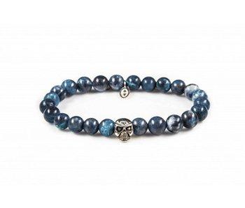 Karma Bracelet Blue Waters Skull - unisex