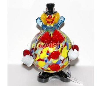Vetri di Murano Colorful clown with round belly - Murano glass