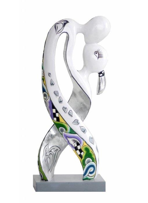 Toms Drag Liebespar, Skulptur Lovers Silver Line - L