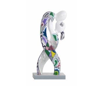 Toms Drag Liebespar, Skulptur Lovers - Silver Line - S