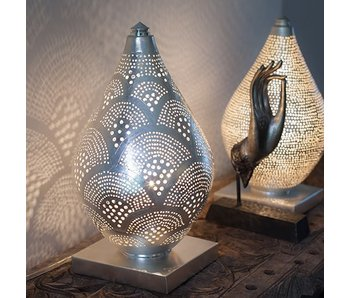 Zenza Filigree table lamp Elegance Mini Fan Silver