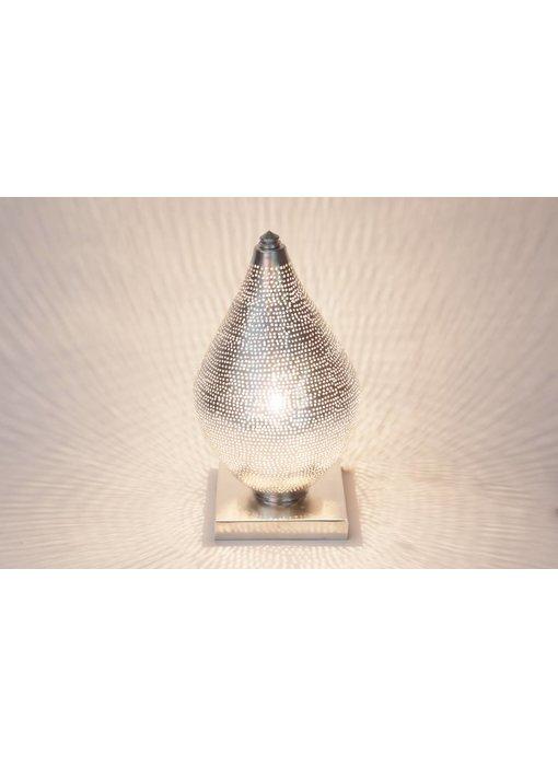 Zenza Oosterse filigrain tafellamp mini Filisky Silver