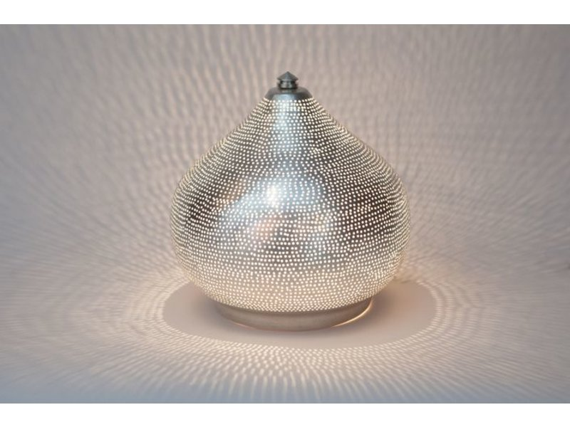 Zenza zenza oriental filigree table lamp filiski silver from egypt