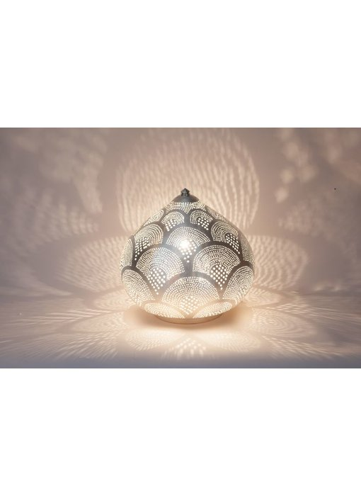 Zenza Oosterse filigrain tafellamp Princess Fan Silver - S