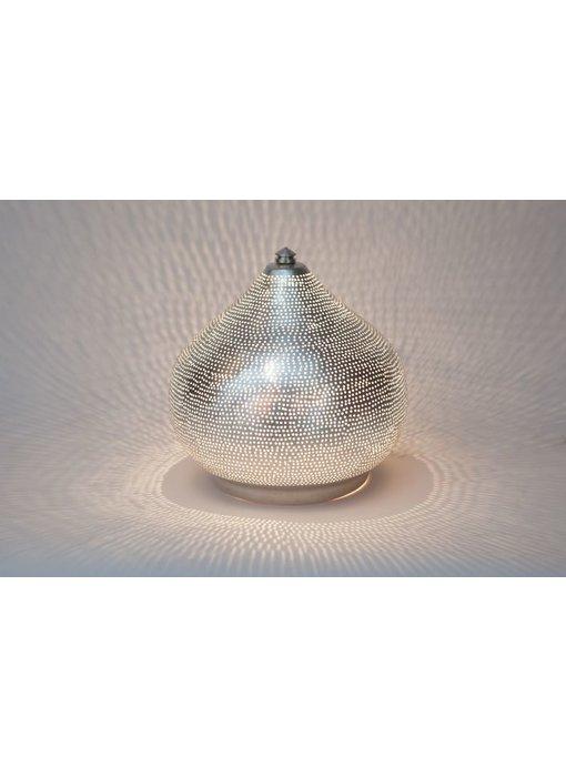 Zenza Arabische filigrain tafellamp Filiski Silver - L