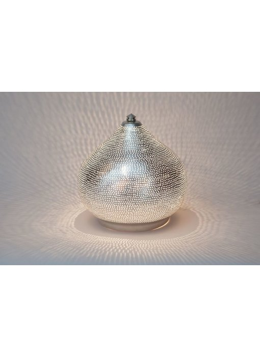 Zenza Oriental filigree table lamp Filiski Silver - L