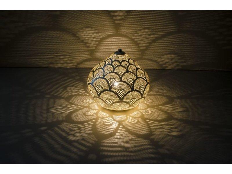 Zenza Oosterse filigrain tafellamp Princess Fan Silver - L