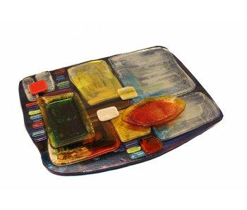 Tapas- oder Fingerfood Teller aus Glas - L