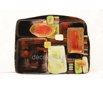 hapjesschaal, tapas bord, glazen schaal - L