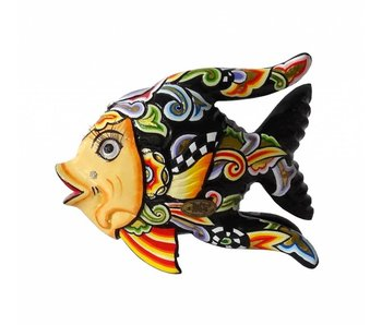 Toms Drag Vis Oscar, vissenbeeld zwart - M