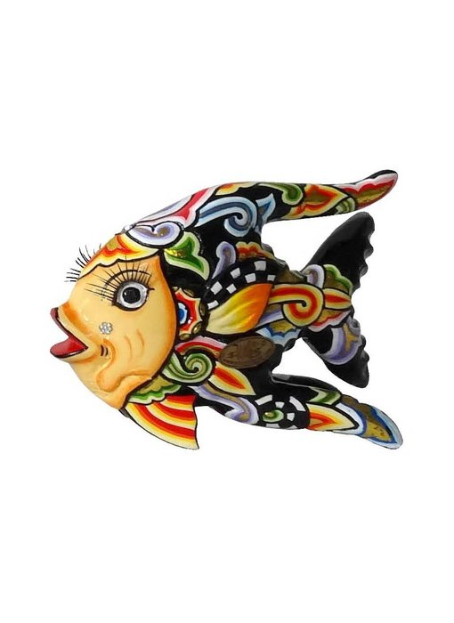 Toms Drag Vis Oscar zwart, vissenbeeld S