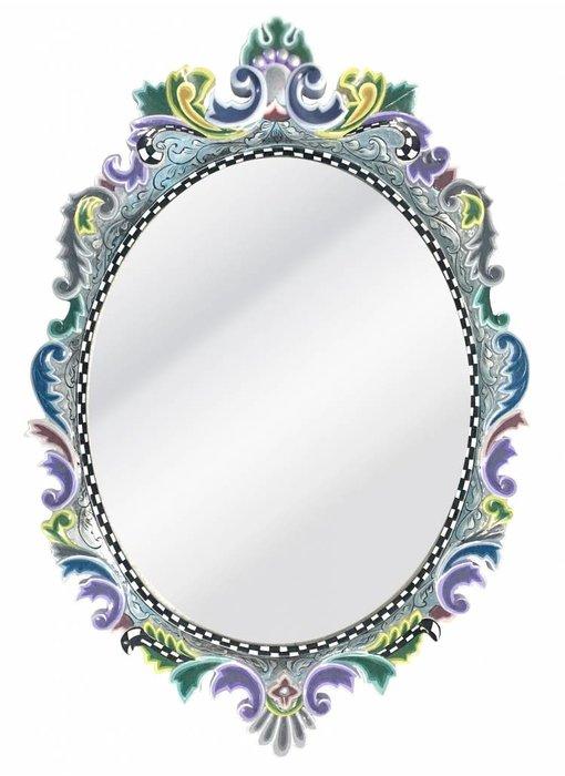 Toms Drag Ovaler Spiegel Versailles - Silver Line