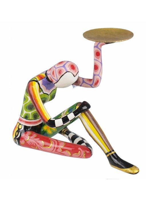 Toms Drag Akrobat sitzend, mit goldene Schale