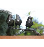 Bronzen takje met 3 kerkmussen