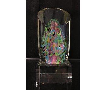 Glassculptuur abstract fantasieobject