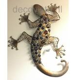 Metalen wanddecoratie gekko, reptiel