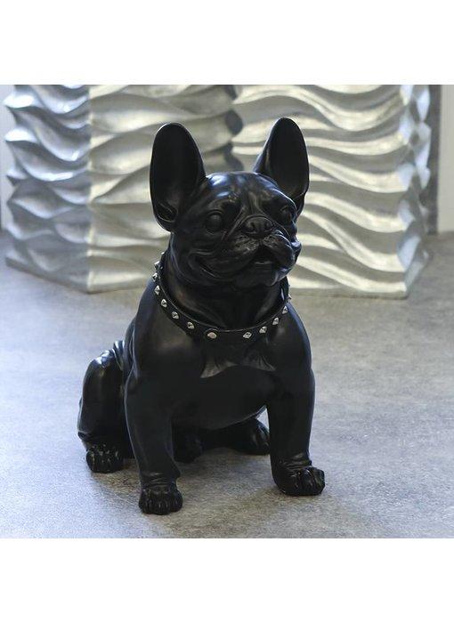 Skulptur  Bulldogge schwarz