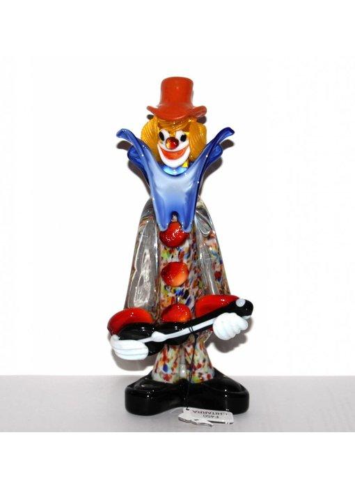 Vetri di Murano Clown with guitar - S