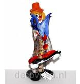 Vetri di Murano Clown met gitaar in Murano glas