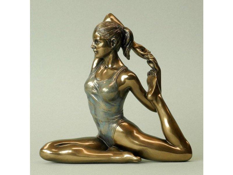 BodyTalk Yoga beeldje vrouw Eka pada Rajahapitasana